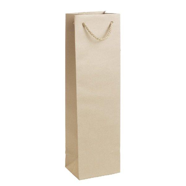Подаръчен плик златист (висок - подходящ за бутилка)