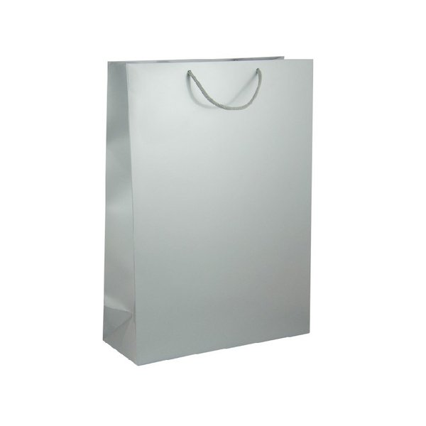 Подаръчен плик, размер XL, сребрист, гланцов