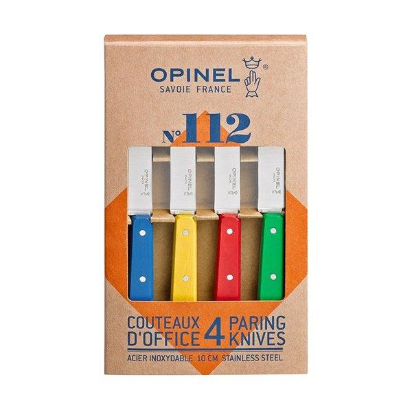 Комплект 4 ножа Opinel Office N112 дръжка бук в различни цветове