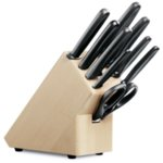 Комплект кухненски ножове Victorinox, 9 части + блок