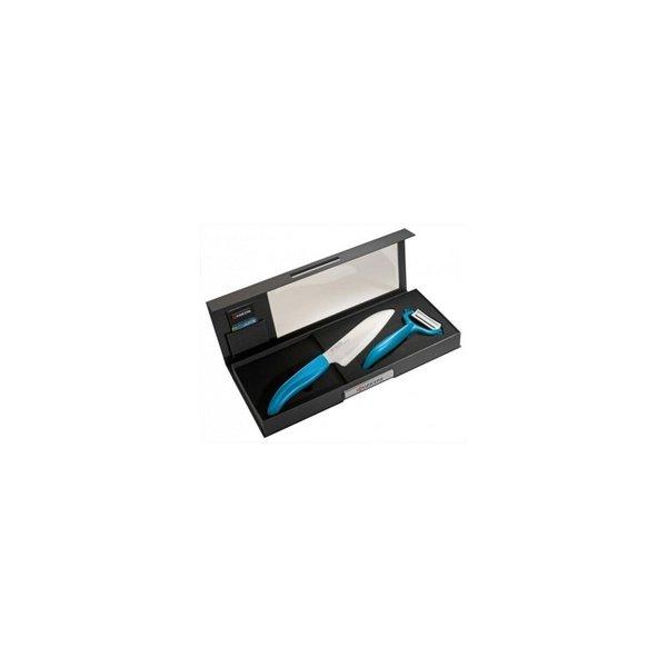 Комплект нож с белачка в кутия Kyocera - син