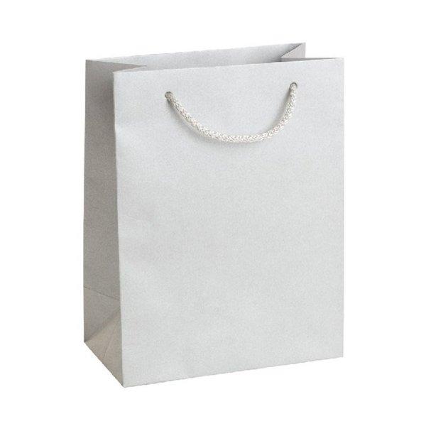 Подаръчна торбичка, сребриста, размер М