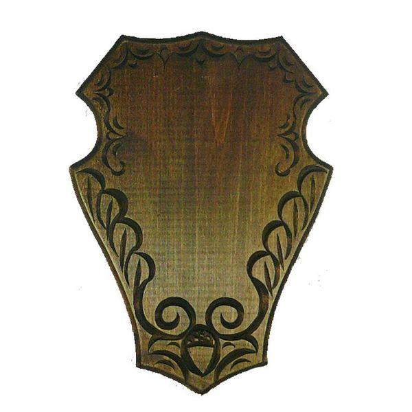 Дърворезбована дъска за трофей от сръндак, 29 см.