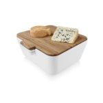 Кутия за хляб, купички за разядки и дъска за рязане - бяла
