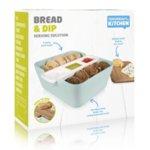 Кутия за хляб, купички за разядки и дъска за рязане - светло синя
