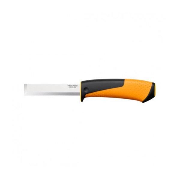 Дърводелски нож Fiskars, с вградено точило в канията заоблен връх