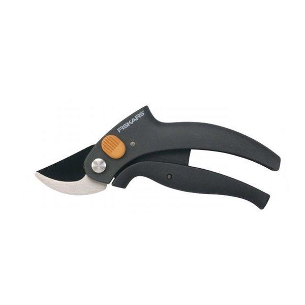 Лозарска ножица Fiskars, с лостов механизъм и разминаващи се остриета P54