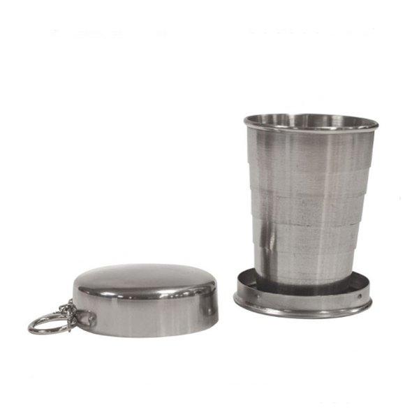 Традиционна сгъваема метална чаша