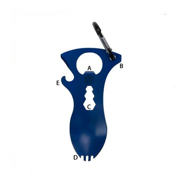 Мултифункционален инструмент UST Brands - вилица/лъжица, син