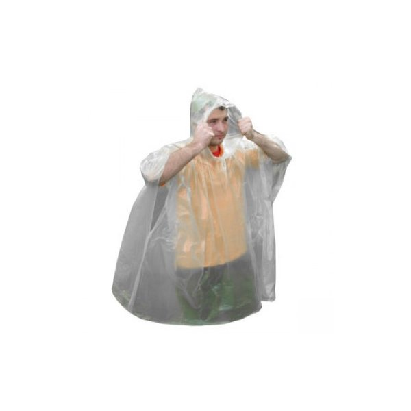 Пончо за извънредни случаи, прозрачен цвят