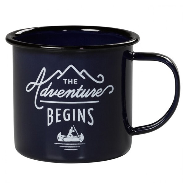 "Емайлирано канче Gentlemans Hardware - ""The Adventure Begins Blue"""