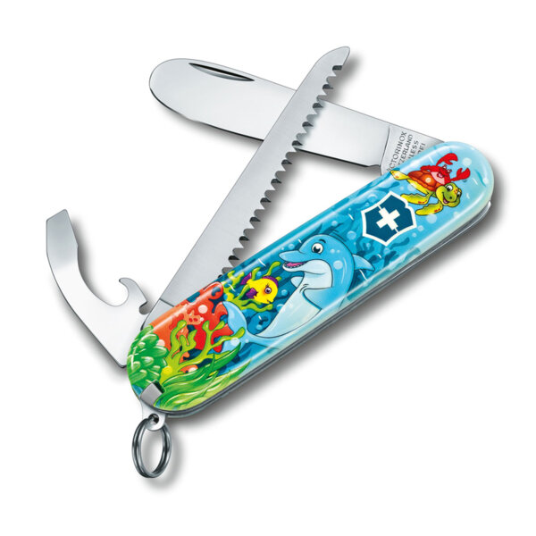 Швейцарски джобен нож Victorinox Children Set, Dolphin Edition