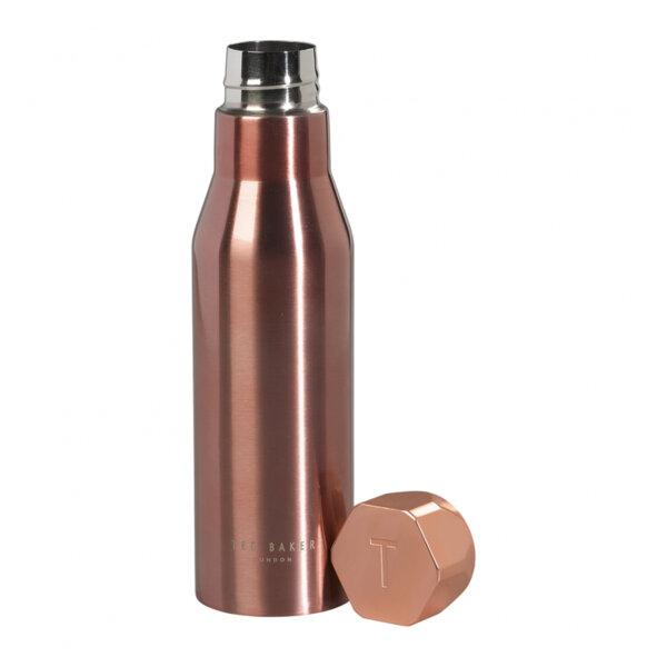 Термо бутилка Ted Baker, розово-златист цвят