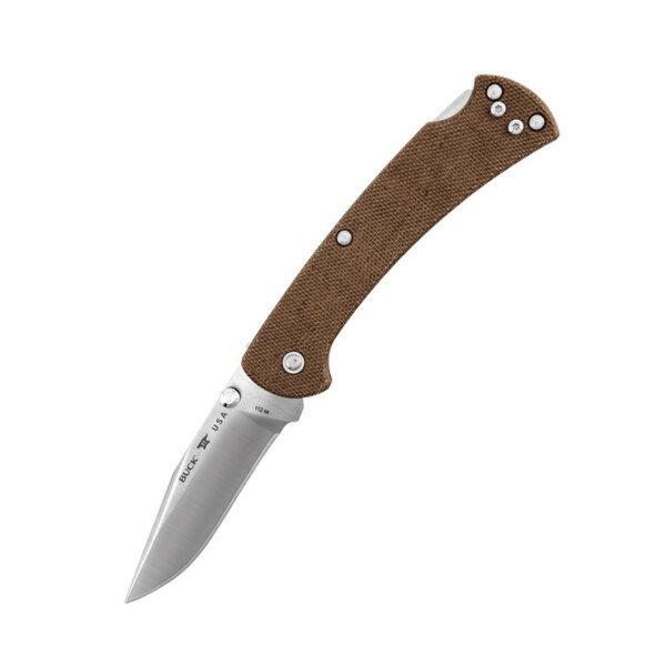 Сгъваем нож Buck - 112 Slim Ranger Pro, Brown Micarta