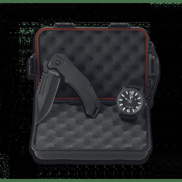 Комплект Martinez Albainox Survival, кутия с нож и часовник