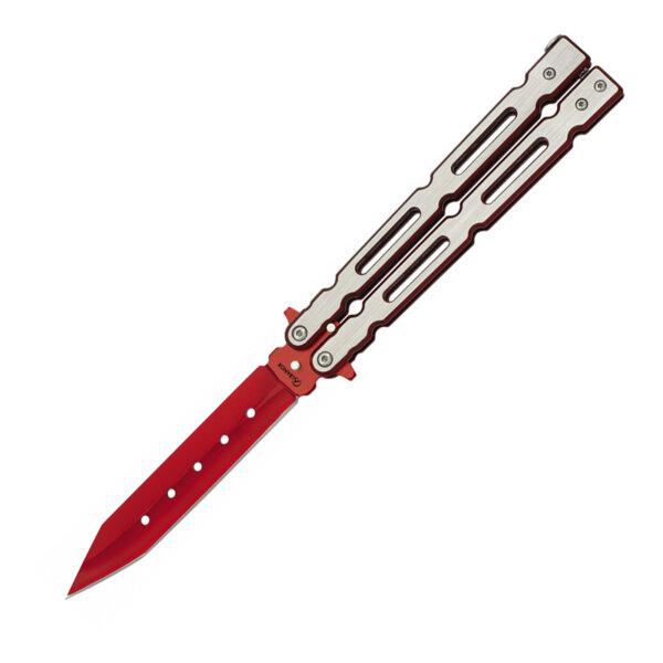 """Сгъваем нож тип """"пеперуда"""" Martinez Albainox - Rojo 02161"""