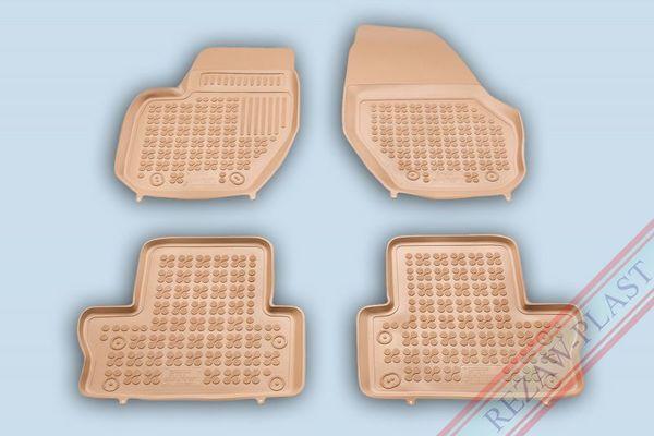 Гумени стелки за VOLVO XC60 модел 2008 до 2017 година- БЕЖОВИ ( ВИСОК БОРД )