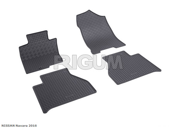 Гумени стелки за Nissan Navara модел от 2016 година