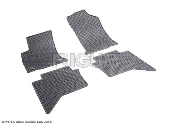 Гумени стелки за Тoyota Hilux  двойна кабина модел след 2016 година