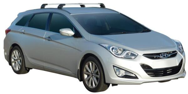 Черни супер аеродинамични товарни греди за Hyundai i40 SW комби модел след 2011 година