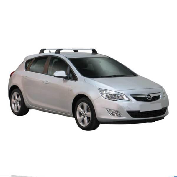Напречни греди за Opel Astra J Хечбек с 5 врати модел 2009 до 2015 година - Yakima Flush сиви