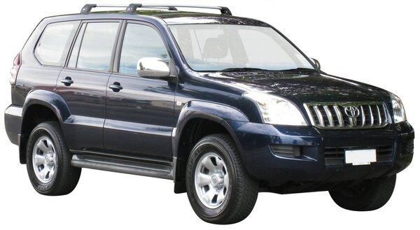 Напречни греди за Toyota Land Cruiser 120 дълга база модел 2003 до 2009 година- Yakima Flush сиви