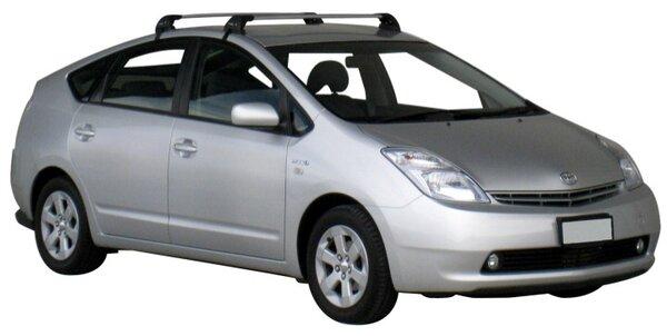 Напречни греди за Toyota Prius от 2004 до 2009 година - Yakima Flush сиви
