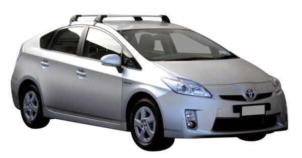 Напречни греди за Toyota Prius 2012-2015 и Prius + модел от 2012 година и нагоре - Yakima Flush сиви