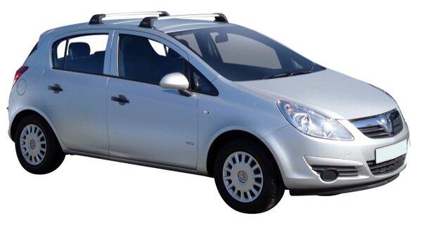 Напречни греди за Opel Corsa D 2006-2015 година модел с 5 врати - Yakima Flush сиви