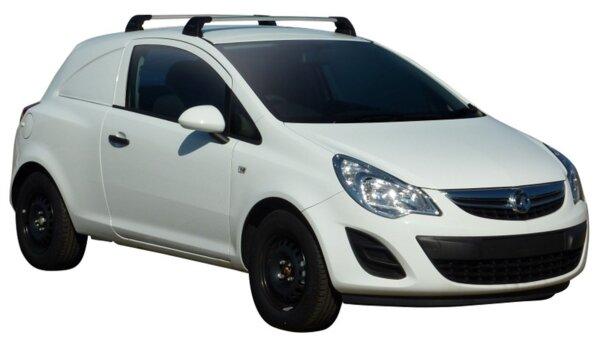 Напречни греди за Opel Corsa D 2006-2015 година модел с 3 врати - Yakima Flush черни