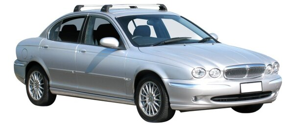 Напречни греди за Jaguar X-Type 2001-2009 - Yakima Flush Черни