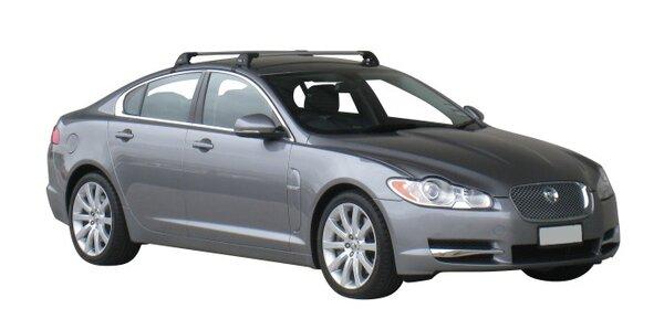 Напречни греди за Jaguar XF Седан 2008-2015 година - Yakima Flush сиви