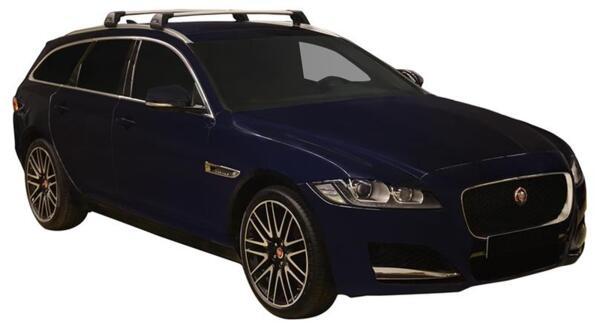 Напречни греди за Jaguar XF Sportbrake 2017 година и нагоре - Yakima Flush черни