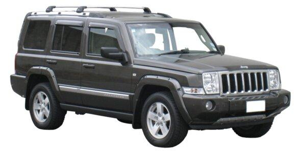 Черни Yakima Flush багажни греди за Jeep Commander 2006 до 2011 година