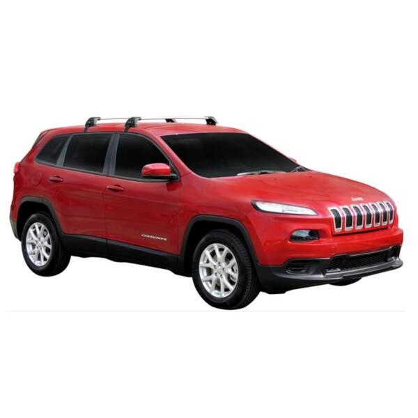 Черни Yakima Flush греди за Jeep Cherokee след 2014 година