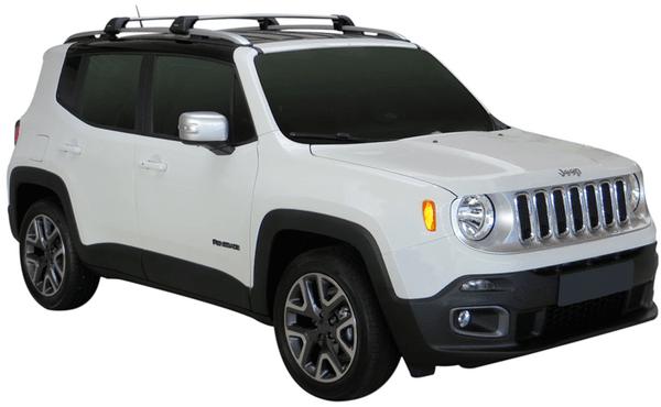 Черни Yakima Flush греди за Jeep Renegade след 2015 година