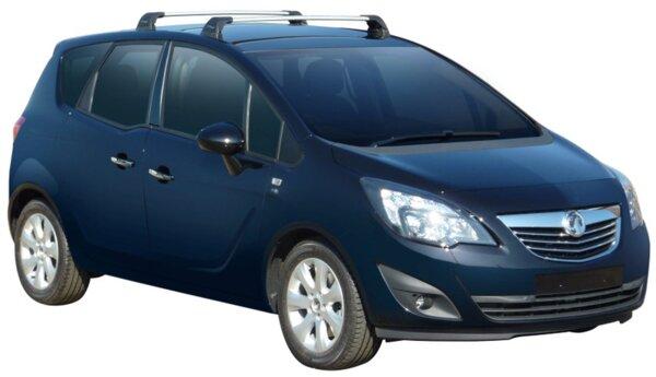 Черни Yakima Flush греди за Opel Meriva B след 2010 година