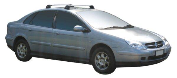 Черни Yakima Flush греди за Citroen C5 седан модел от 2001 до 2008 година