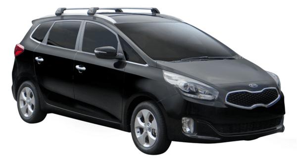 Сиви Yakima Flush греди за Kia Carens 2013- и Kia Soul 2014-2020
