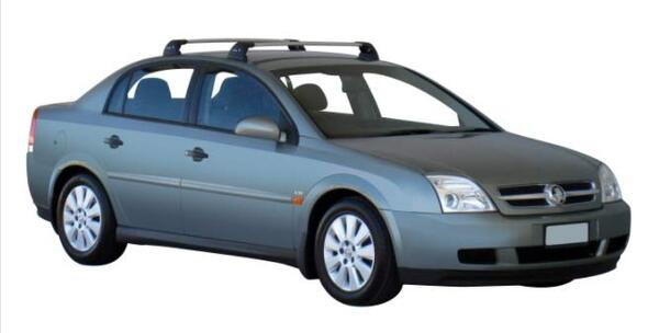 Yakima Flush греди за Opel Vectra C седан, хечбек и комби с Fixpoint - Черни