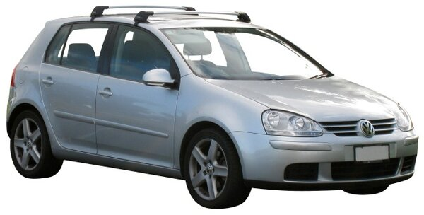 Yakima Flush греди за VW Golf 5 и Golf 6 модели с 5 врати от 2004 до 2012 година- Сиви