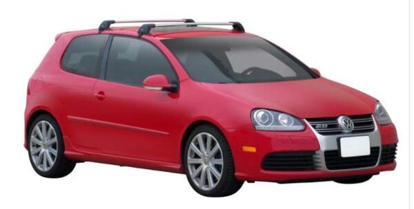 Yakima Flush греди за VW Golf 5 с 3 врати от 2006 до 2009 година - Черни