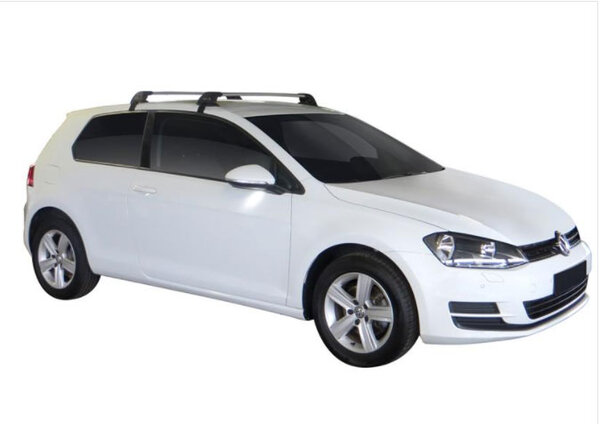 Сиви Yakima Flush греди за VW GOLF 7 Hatchback с 3 врати от 2012 до 2020 година