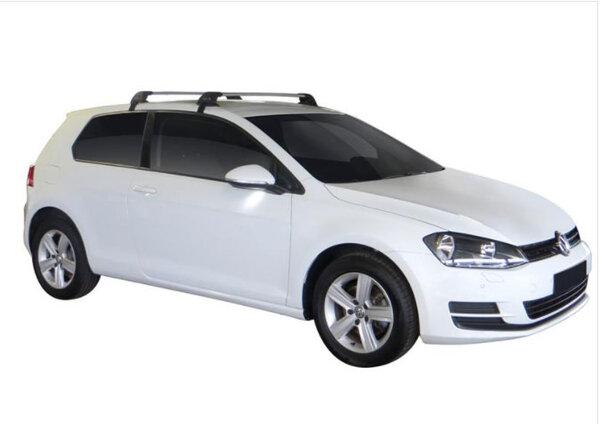 Черни Yakima Flush греди за VW GOLF 7 Hatchback с 3 врати от 2012 до 2020 година