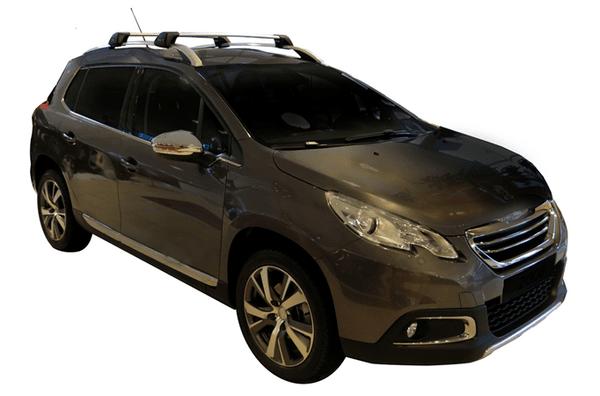 Черни Yakima Flush греди за Peugeot 2008 2013-2020 със стандартни надлъжни греди