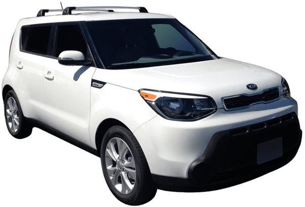 Сиви Аеродинамични греди Yakima Flush за Kia Soul от 2014-2020 без надлъжни греди