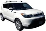 Черни Аеродинамични греди Yakima Flush за Kia Soul от 2014-2020 без надлъжни греди S6YB+K815