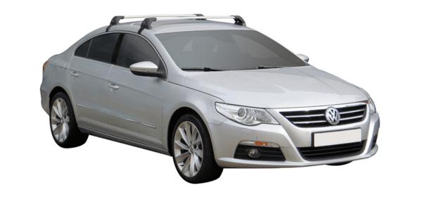 Аеродинамични греди Yakima Flush за VW Passat CC от 2008 до 2017 година - Черни