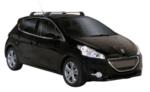 Аеродинамични греди Yakima Flush за Peugeot 208 2012-2019 година с 5 врати - Сиви S25Y+K783