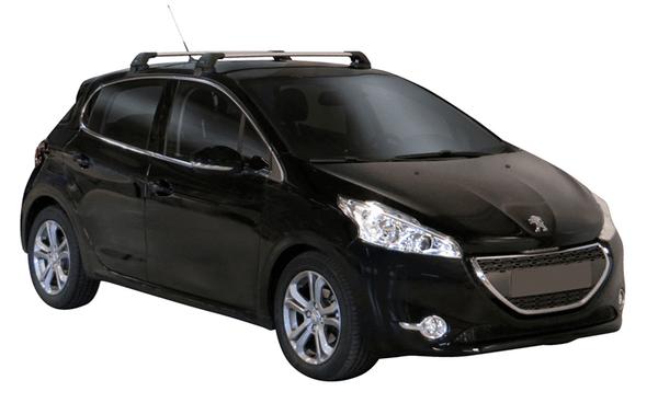 Аеродинамични греди Yakima Flush за Peugeot 208 2012-2019 година с 5 врати - Сиви
